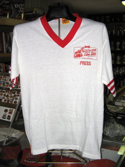 10th Annual Oxford 250 1983 PRESS Tshirt Large