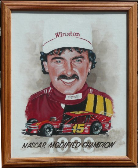 Mike Stefanik 1989 #15 NASCAR Modified Champ Oil Painting