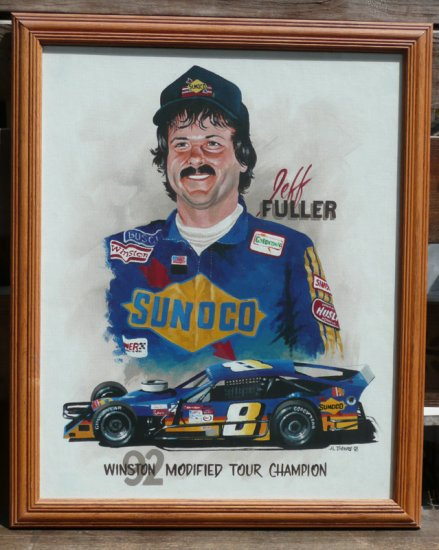 Jeff Fuller 1992 #8 Winston Modified Tour Champion Oil Painting by Al DiMauro
