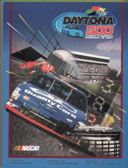 1997 39th Annual Daytona 500 Program with patch NASCAR Winston Cup Speedweeks