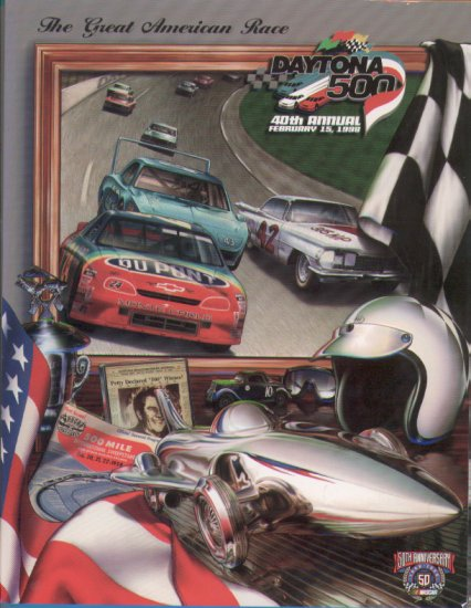 1998 40th Annual Daytona 500 NASCAR 50th Anniversary Program Speedweeks Winston Cup