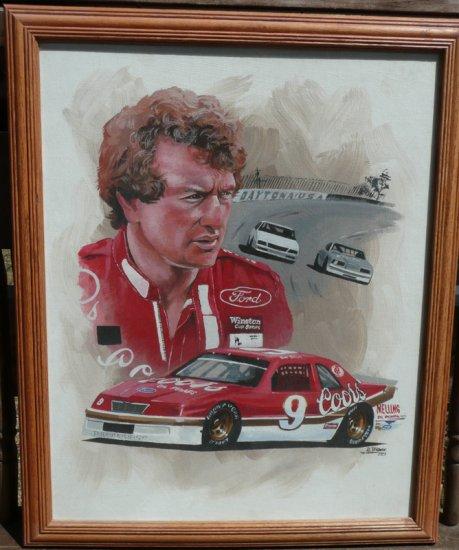 Bill Elliott NASCAR Winston Cup Original Oil Painting