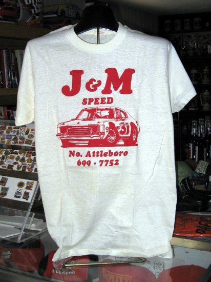 J & M Speed Large Tshirt Auto Racing