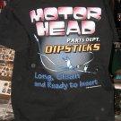 Motor Head Parts DIPSTICKS Black XL Tshirt