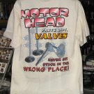 Motor Head Parts Dept. VALVES Tan Large Tshirt
