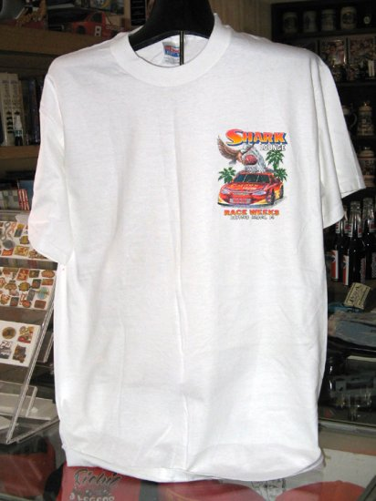 Shark Lounge 2001 Speedweeks Daytona Beach FL Medium Tshirt