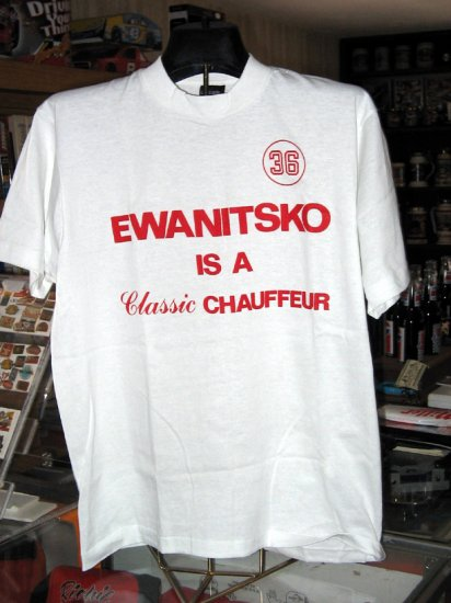Mike Ewanitsko #36 Classic Chauffer Large Tshirt Modified Driver SH1454