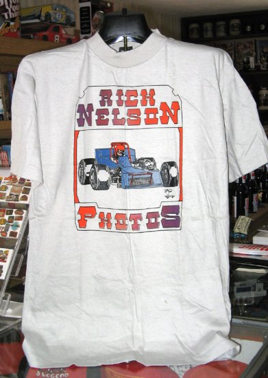Rick Nelson Racing Photos XLarge Tshirt SH1455