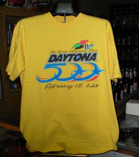 Daytona 500 2001 Great American Race Large Tshirt NASCAR SH6503