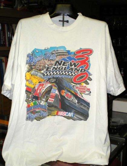 NHIS Magic Mile 2001 New England 300 X- Large Tshirt NASCAR SH6505