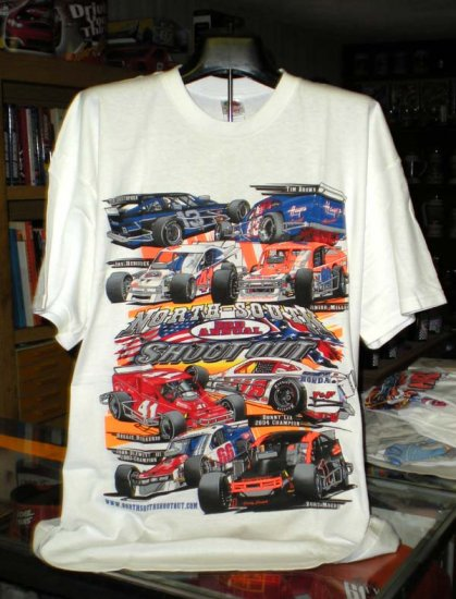 North South 3rd Annual Shootout XXL Tshirt NASCAR Modifieds SH6511