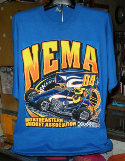 NEMA  04 Northeastern Midget Association XL Tshirt  Racing SH6523