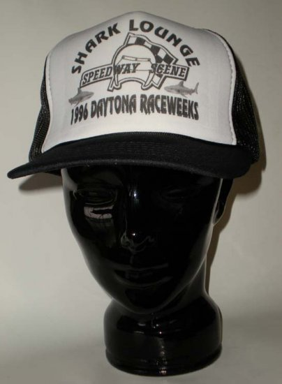 Shark Lounge Speedway Scene 1996 Daytona Raceweeks Adjustable Cap