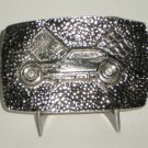 Pinto Race Car Modified Belt Buckle Silvertone