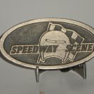Speedway Scene  Belt Buckle Auto Racing