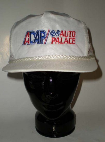 ADAP Auto Palace Racing White Adjustable Cap Hat