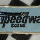 Speedway Scene Blue. Sew On Patch Motorsports NASCAR