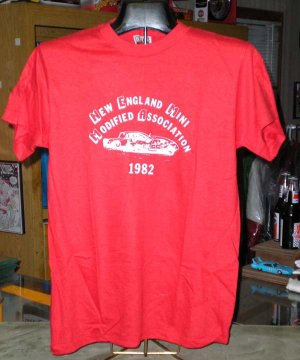 Auto Racing  England Autoracing on New England Mini Modified Association 1982 Med Tshirt Auto Racing
