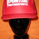 Pontiac Motorsports Red Adjustable Hat Cap NASCAR