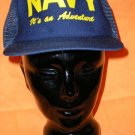NAVY It's An Adventure Adjustable Cap Hat