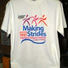 American Cancer Society 1997 Making Strides Large Tshirt SH6516