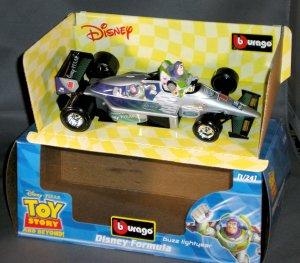 Bburago Disney Pixar Buzz Lightyear  Toy Story 1:24 Diecast F1 Race Car