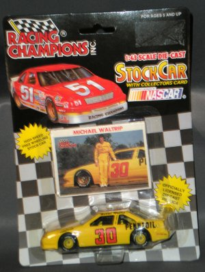 Michael Waltrip Pennzoil #30 1992 Racing Champions 1:43 Die Cast NASCAR