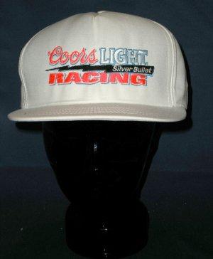 Coors Light Silver Bullet  Racing Adjustable Cap Hat NASCAR Motorsports Racing