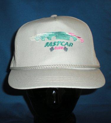 Fast Car Club Hat Cap Auto Racing Motorsports