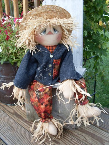 Waiting for Dorothy Scarecrow Paper Pattern #100