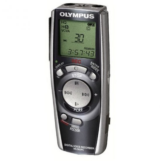 Olympus VN-960PC 16 hour Digital Voice Recorder with PC Interface (Refurbished)