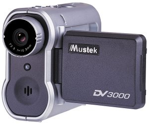 Mustek DV3000 Multi-Function Digital Video Camera w/1.5-inch LCD and 2x Digital Zoom