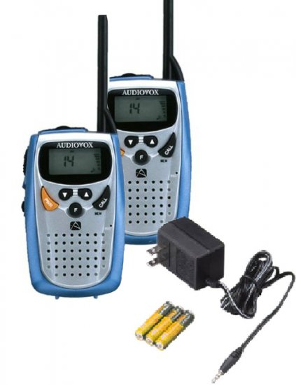 Audiovox 2 way radio kit with fm and BONUS battery charger!