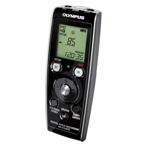 Olympus VN2100PC 35 hr digital voice recorder with pc interface.