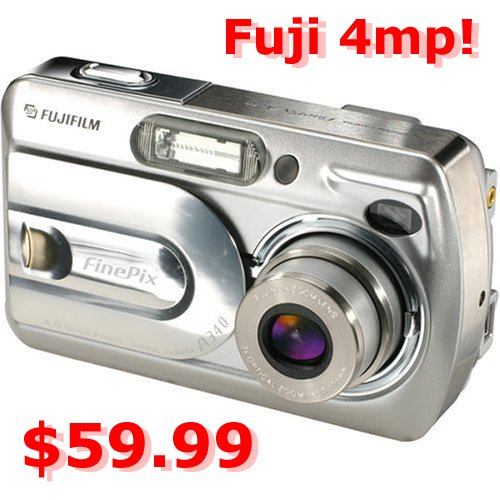 Fuji 4mp digital camera w/ 3x optical zoom