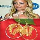 Gold Rain Waterfall Chandelier Earrings