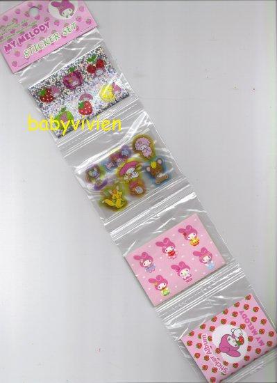 Sanrio 2002 My Melody Sticker Set