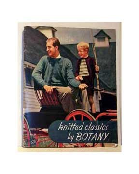 Knitted Classics By Botany No-Dye-Lot Yarns in 1944