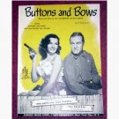 Buttons And Bows - Jane Russell & Bob Hope - sheet music