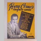 Perry Comos Favorite Songs with Words and Music
