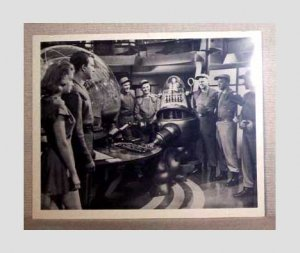 Forbidden Planet 1956 b/w photo - Leslie Nielsen, Anne Francis