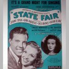 Its A Grand Night For Singing - Sheet Music - movie State Fair