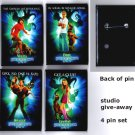 Scooby-Doo: The Movie Pins - Set of 4 - movie studio promotion item from 2002