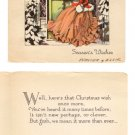 "Vintage Christmas Card ""Seasons Wishes"" - year unknown"