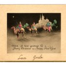 Vintage Christmas Card - Three Maji - year unknown
