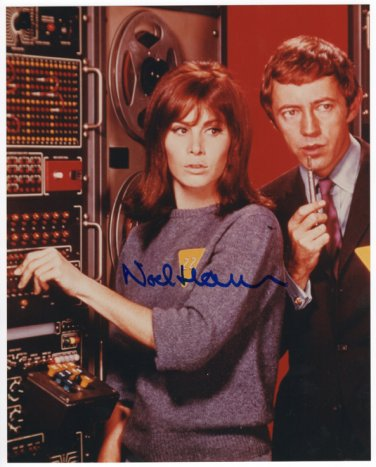 Girl FROM U.N.C.L.E. color photo - Autographed by Noel Harrison