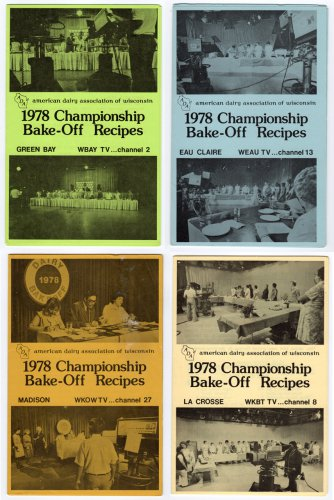 1978 Championship Bake-Off Recipe Booklets - Set of 4