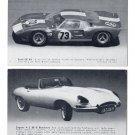 2 Vintage Car trading cards