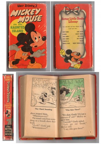MICKEY MOUSE on the Haunted Island - Whitman Publishing Company - 1950