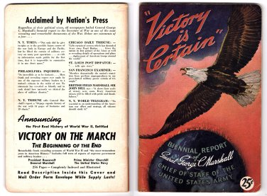 Victory Is Certain - Biennial Report of General George C. Marshall (1941-1943)